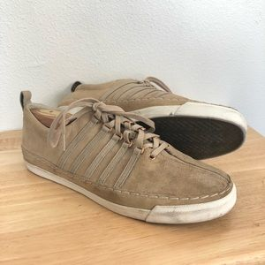 Billy Reid Suede Tan Brown Lace Front Sneaker 11